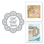Spellbinders - Thoughtful Expressions Collection - Etched Dies - Get Well Soon Scalloped Circle