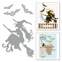 Spellbinders - Holiday Collection - Halloween - Shapeabilities Dies - Witch on Broom