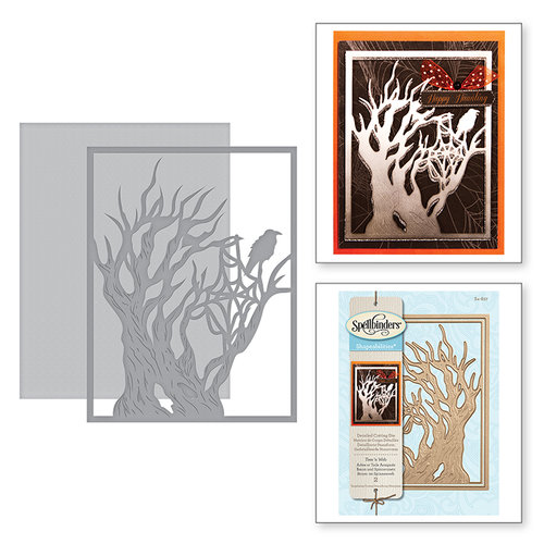 Spellbinders - Holiday Collection - Halloween - Shapeabilities Dies - Tree 'n Web