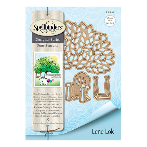 Spellbinders - Four Seasons Collection - Etched Dies - Summer Canopy and Elements