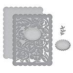 Spellbinders - Flower Garden Collection - Shapeabilities Dies - Floral Panel Card