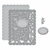 Spellbinders - Flower Garden Collection - Shapeabilities Dies - Floral Panel Card