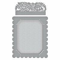 Spellbinders - Flower Garden Collection - Shapeabilities Dies - Floral Photo Frame