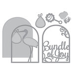 Spellbinders - Elegant 3D Cards Collection - Etched Dies - Layered Bundle of Joy