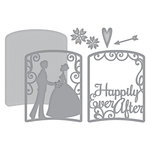 Spellbinders - Elegant 3D Cards Collection - Etched Dies - Layered Happily Ever After