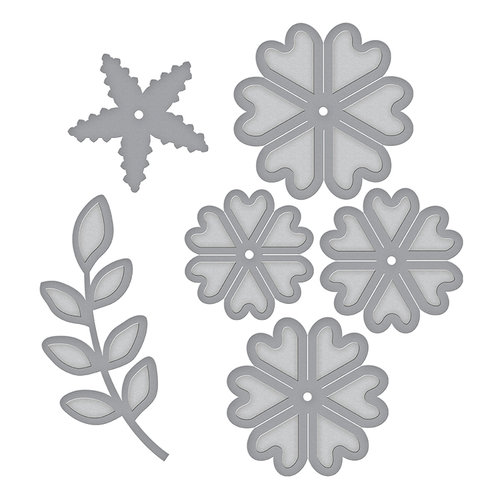 Spellbinders - Elegant 3D Cards Collection - Etched Dies - Cinch and Go Flowers III