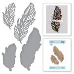Spellbinders - Good Vibes Only Collection - Etched Dies - Feathers in the Wind