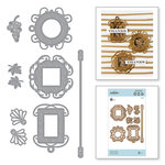 Spellbinders - Wine Country Collection - Etched Dies - Frame Charms