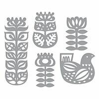 Spellbinders - Folk Art Collection - Shapeabilities Dies - Nordic Floral