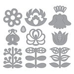 Spellbinders - Folk Art Collection - Shapeabilities Dies - Nordic Blooms