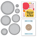 Spellbinders - Nestabilities Collection - Etched Dies - Fancy Edged Circles