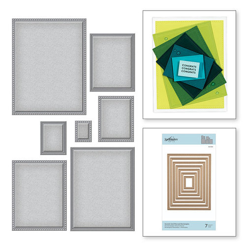 Spellbinders - Nestabilities Collection - Etched Dies - Scored and Pierced Rectangles
