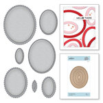 Spellbinders - Nestabilities Collection - Etched Dies - Fancy Edged Ovals