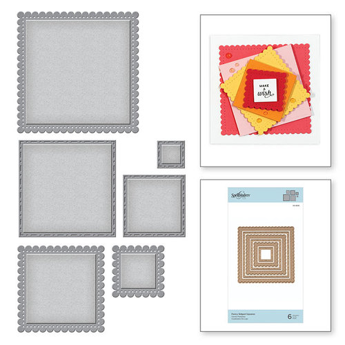 Spellbinders - Nestabilities Collection - Etched Dies - Fancy Edged Squares