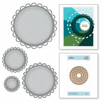Spellbinders - Nestabilities Collection - Etched Dies - Open Scallop Edge Circles