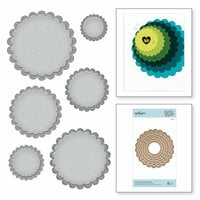 Spellbinders - Nestabilities Collection - Etched Dies - Fancy Scallop Edge Circles