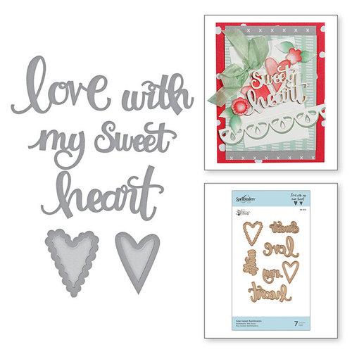 Spellbinders - Sew Sweet Collection - Shapeabilities Dies - Sew Sweet Sentiments