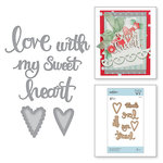 Spellbinders - Sew Sweet Collection - Shapeabilities Dies - Sew Sweet Sentiments