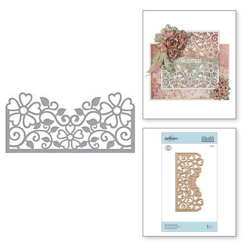 Spellbinders - Blooming Garden Collection - Etched Dies - Top Floral Panel