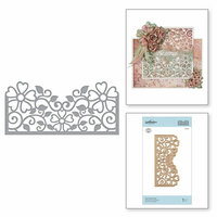 Spellbinders - Blooming Garden Collection - Etched Dies - Top Floral Panel