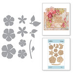 Spellbinders - Blooming Garden Collection - Etched Dies - Blooming Rose