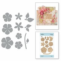 Spellbinders - Blooming Garden Collection - Etched Dies - Blooming Rose