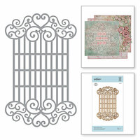 Spellbinders - Blooming Garden Collection - Etched Dies - Swirl Lattice Panel