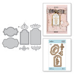 Spellbinders - Romancing the Swirl Collection - Shapeabilities Dies - Swirl Tags