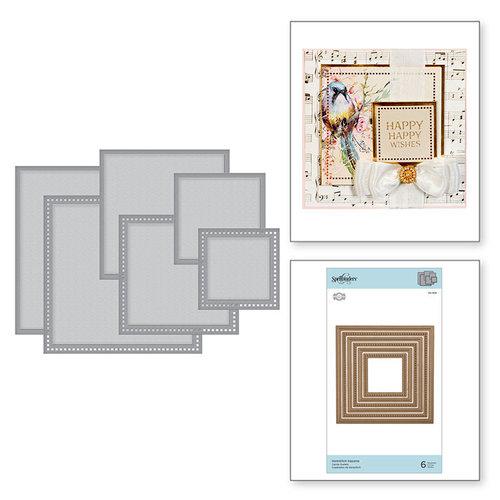 Spellbinders - Romancing the Swirl Collection - Nestabilities Dies - Hemstitch Squares