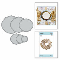 Spellbinders - Romancing the Swirl Collection - Nestabilities Dies - Curvy Labels