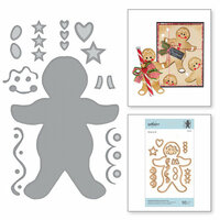 Spellbinders - A Sweet Christmas Collection - Shapeabilities Dies - Gingerbread Boy Garland Tag