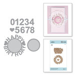 Spellbinders - Special Moments Collection - Shapeabilities Dies - Happy Birthday with Numbers