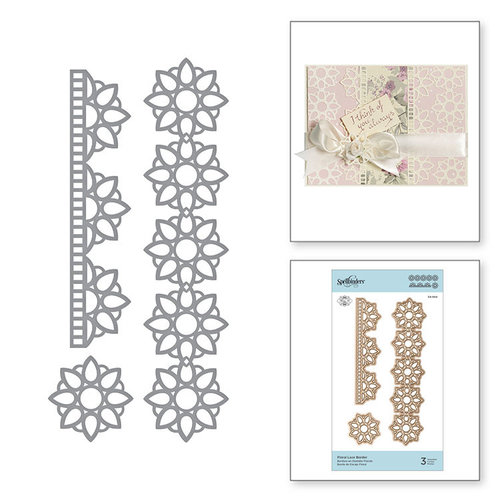 Spellbinders - Special Moments Collection - Shapeabilities Dies - Floral Lace Border
