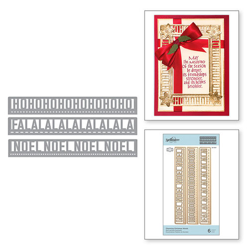 Spellbinders - A Charming Christmas Collection - Shapeabilities Dies - Charming Christmas Words