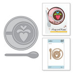 Spellbinders - Cuppa Coffee, Cuppa Tea Collection - Shapeabilities Dies - Heart Latte
