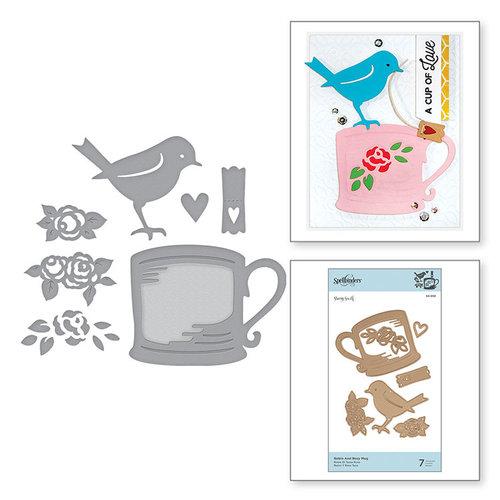 Spellbinders - Cuppa Coffee, Cuppa Tea Collection - Shapeabilities Dies - Robin and Rosy Mug