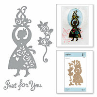 Spellbinders - Cuppa Coffee, Cuppa Tea Collection - Shapeabilities Dies - Coffee Woman