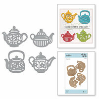 Spellbinders - Cuppa Coffee, Cuppa Tea Collection - Shapeabilities Dies - Tea Pots