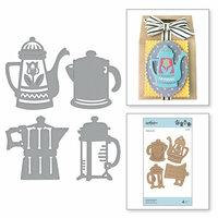 Spellbinders - Cuppa Coffee, Cuppa Tea Collection - Shapeabilities Dies - Coffee Brewing