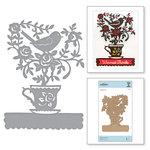 Spellbinders - Cuppa Coffee, Cuppa Tea Collection - Shapeabilities Dies - Blooming Brew