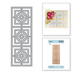 Spellbinders - Exquisite Splendor Collection - Shapeabilities Die - Square Medallion Tiles