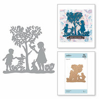 Spellbinders - Great, Big, Wonderful World Collection - Shapeabilities Die - Peaceful Garden