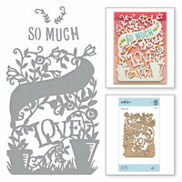 Spellbinders - Great, Big, Wonderful World Collection - Shapeabilities Die - Love Grows