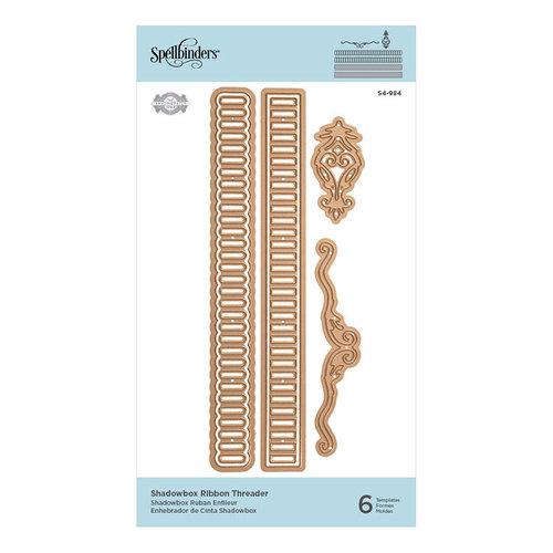 Spellbinders - Shadowbox Collection - Shapeabilities Die - Shadowbox Ribbon Threader