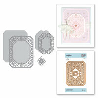 Spellbinders - Vintage Treasures Collection - Shapeabilities Dies - Etched Dies - Cannetille Rectangle
