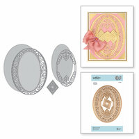 Spellbinders - Vintage Treasures Collection - Shapeabilities Dies - Etched Dies - Bella Luce Oval