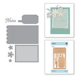 Spellbinders - Vintage Treasures Collection - Shapeabilities Dies - Etched Dies - Adorned Notepad
