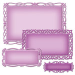 Spellbinders - Nestabilities Collection - Die - Deco Elements - Romantic Rectangles Two