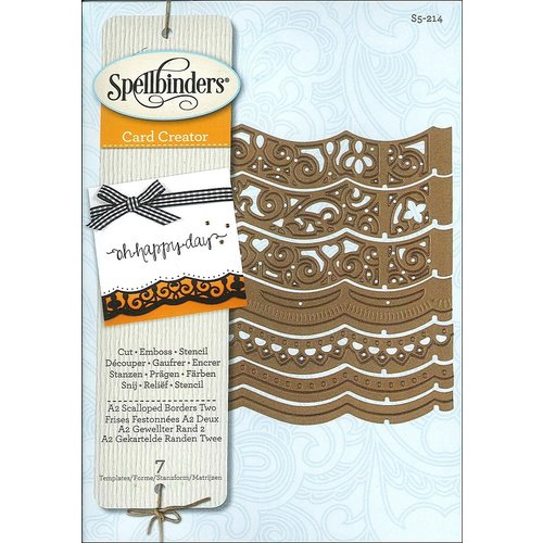 Spellbinders - Borderabilities Collection - Die - Card Creator - A2 Scalloped Borders Three