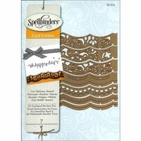 Spellbinders - Borderabilities Collection - Die - Card Creator - A2 Scalloped Borders Two
